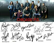 Chicago PD Sophia Bush Jesse Lee Soffer Full Cast Signed Photo Autograph Reprint