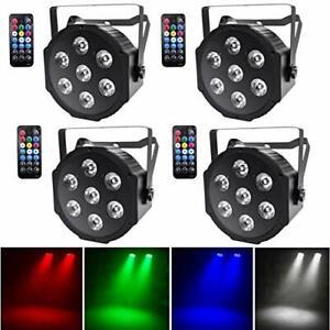 UKing 4pcs LED Par Licht 7 LED Strahler DMX Bühnenlicht Disco  unvollständig