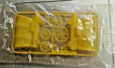 Premium CEREAL TOY ~ Covered Wagon: Gt. Britain ~ Yellow, ON FRAME! In Plastic