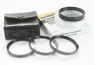 LOT OF FOUR 49MM FILTERS, POLARIZER, CLOSE UP SET +1, +2, AND +4/174526