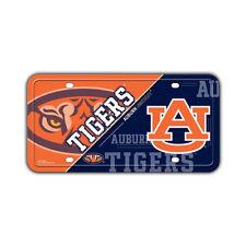 "Metal Vanity License Plate Tag Cover - Auburn University Tigers - 12"" x 6"""
