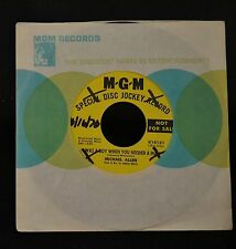 Michael Allen MGM DJ 14181 I Was A Boy When You Needed A Man
