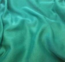Faux Silk Chiffon Fabric Iridescent Aqua Green 1/3 yard remnant