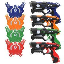 Laser Tag Guns Set 4 Pack Infrared Blasters Battle Multiplay Game Indoor Outdoor