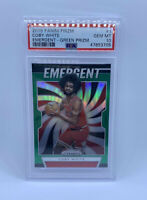 Coby White 2019 PANINI PRIZM #1 EMERGENT GREEN GEM MINT PSA 10!! RC PSA Pop 20!!