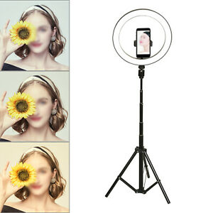 """10"""" LED Ring Light with 1.78M Stand for Youtube Tiktok Makeup Video Phone"""