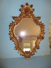 HOLLYWOOD REGENCY ITALIAN GOLD French WALL MIRROR MADE IN ITALY 22x15