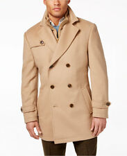$875 RALPH LAUREN MENS BROWN WOOL FIELD Overcoat WINTER COAT Peacoat JACKET 46L