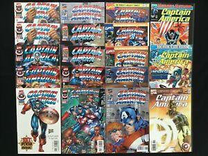 CAPTAIN AMERICA Lot of 18 Marvel Comic Books - v2 #1-12+, v3 All Variant #1 2 3!