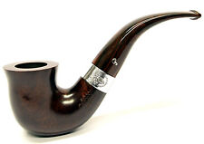 Peterson Harp Sterling Silver Mounted Dublin Bent Pipe (05)