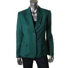 TAHARI Peter Green Linen Lined Long Sleeves Notch Collar Blazer Jacket 8 - NEW