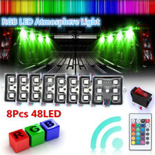 8 X Waterproof 48LED RGB Rock Lamps Car Truck Bed Lights Under Body LED Lighting