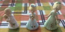 Enesco Growing Up Birthday Girls #1, 2 & 3 Vintage 1980's Figurines