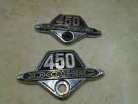 Honda 450 CB SPORT CB450-K6 Side Cover Emblems Cracked 1973 #HB409