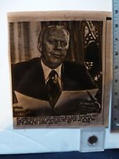 Vintage Press Wire Photo President Ford Vetos Oil Price Controls 9/10/1975