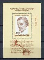 32567) HUNGARY 1982 MNH** Zoltan Kodaly S/S Scott# 2775