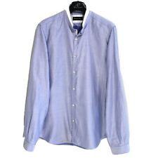 Massimo Dutti Hommes Chemise Taille L Coupe Standard Violet Coton ma4500