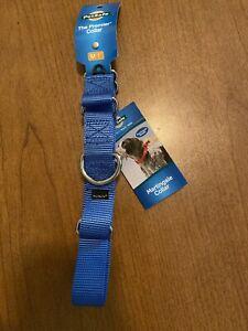Pet Safe Martingale Collar Blue Size Medium 1 Inch Quick Snap Buckle