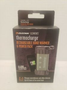 New Celestron Elements 2-In-1 Hand Warmer and ThermoCharge Charger Power Pack