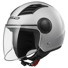 Casco Ls2 Airflow Of562 Jet Gloss Silver S