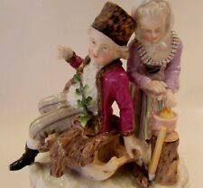 "Gorgeous Antique SITZENDORF Voigt Bros DRESDEN ""Winter"" Porcelain Figurine"