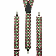 Christmas Bauble Braces Novelty Mens Clip On Elastic Suspenders Stocking Filler