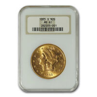 1885-S $20 Liberty Gold Double Eagle MS-61 NGC - SKU#97145