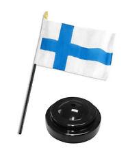 "Finland Flag 4""x6"" Desk Set Table Stick Black Base"