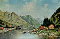 A.Rosenberg Signed - Fjord IN Norway?