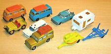 MATCHBOX Lesney x9 assorted lot - Cadillac/ Studebaker/ VW Camper/ Caravan etc
