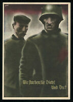 1935 Germany 3rd Reich Postcard Cover German Hitler Army Comrades Patriots stamp
