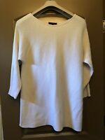 Harve Benard Womens Sweater L Off White Tunic