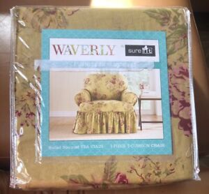 4 NEW Papin-40 Waverly Sure Fit Ballad Bouquet Tea Stain 1 Piece Slipcover