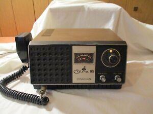 COBRA 85 DYNASCAN 23 CHANNEL BASE STATION CB RADIO W/MIKE MIC SER.# 76-54937