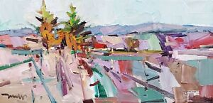 JOSE TRUJILLO Oil Painting IMPRESSIONISM LANDSCAPE CONTEMPORARY MODERNISM SIGNED