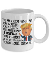 Funny Donald Trump Great Mom-In-Law Coffee Mug Gift For Mother-In-Law Cup m87