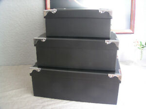 3er Set Boxen, Aufbewahrungsboxen, Pappkarton, Pappschachtel, Allzweckboxen