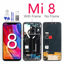 Black For Xiaomi Mi 8 Mi 8 LCD Display Touch Screen Digitizer Assembly + Frame