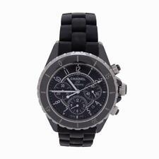 Chanel J12 Black Ceramic Chronograph Black Dial Automatic Womens Watch 41mm