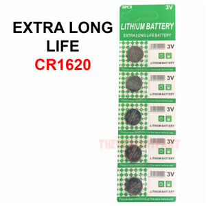 5 PCS CR1620 Lithium Battery 3V Button Cell Watches Pagers Calculators LONG LIFE