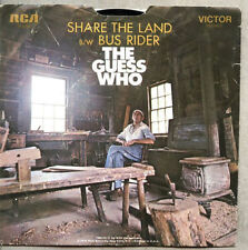 VINYL 45 & Picture Sleeve The Guess Who - Share The Land / Bus Rider