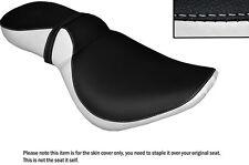 BLACK & WHITE CUSTOM FITS KAWASAKI VN 800 VULCAN DUAL SEAT COVER