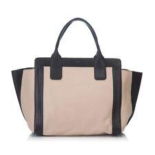 CHLOE Leather Alison Handbag - Brown x Beige x Black