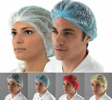 Disposable Mob Caps Elasticated Blue White Catering Hair Nets Net Cap 100-2000