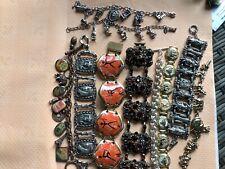Bracelets Metals Egyptian Usa African Etc. Job Lot Vintage Link Ceramic Chain