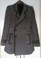 Strikeing Smart Miss Selfridge Coat Size 10 Black White Spots