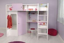 Weiße Kinder-Bettgestelle ohne Matratze mit Prinzessin -/Fee