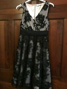 Jacques Vert Dress 50s Black Nude Pink Lace Party Cocktail Prom BNWT UK 10 US 6