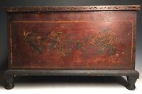 Antique Pennsylvania Miniature Blanket Chest Dresser Box Wooden Folk Art