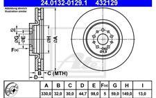 ATE Juego de 2 discos freno 330mm ventilado para ALFA ROMEO 156 147 GT